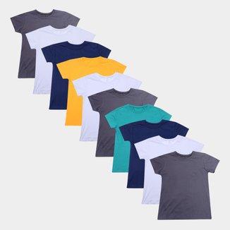 Kit Camiseta Volare Básica 10 Peças Feminino
