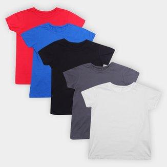 Kit Camiseta Volare Básica 5 Peças Feminino