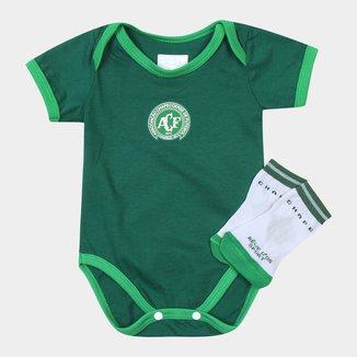 Kit Chapecoense Infantil c/ Body e Meia