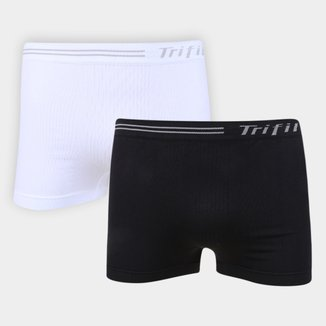 Kit Cueca Boxer Trifil Sem Costura 2 Peças Masculina