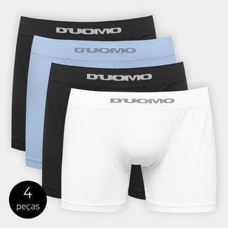 Kit Cueca Duomo Boxer Sem Costura Microfibra 4 Peças