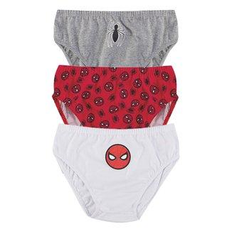 Kit Cueca Infantil Evanilda Spider-Man c/ 3 Peças