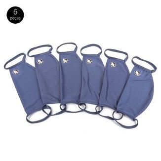 Kit de Máscaras de Proteção Vasco da Gama Modelagem Ampla Laváveis - 6 Unid