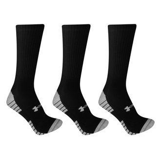 Kit Meia Under Armour Cano Alto HeatGear Tech c/ 3 Pares