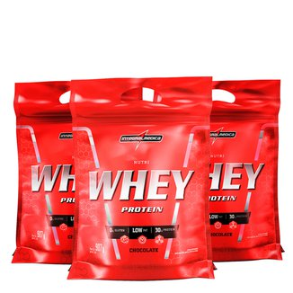 Kit Nutri Whey Protein 3x 907 g Refi - IntegralMédica