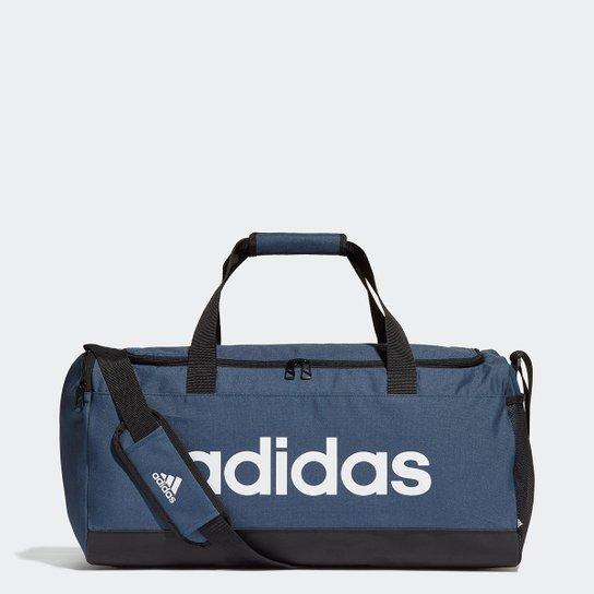 Mala Adidas Duffel Linear - Azul+Preto