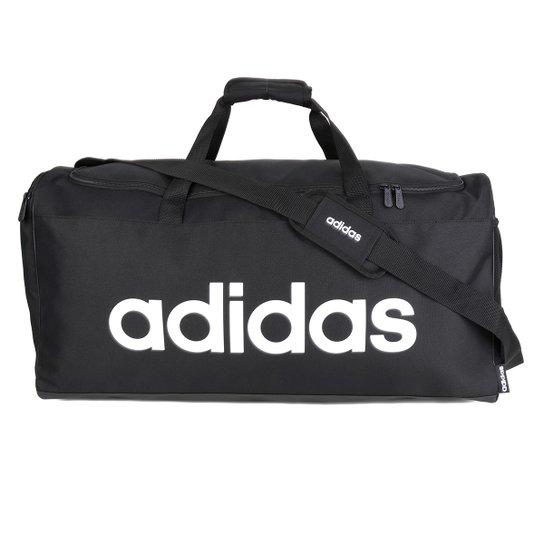 Mala Adidas Linear Duffle - Preto+Branco