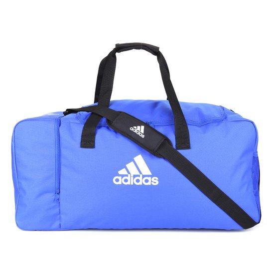 Mala Adidas Tiro Duffel Grande - Azul+Branco