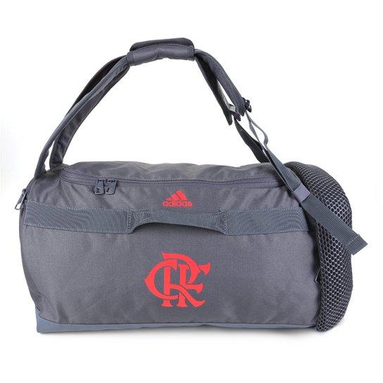 Mala Flamengo Adidas Duffell - Cinza+Vermelho