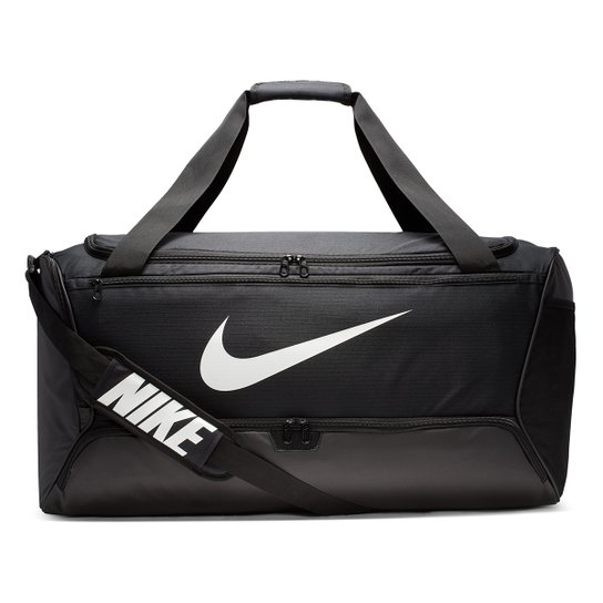 Mala Nike Brasilia Duff L 9.0 - 95 Litros - Preto+Branco