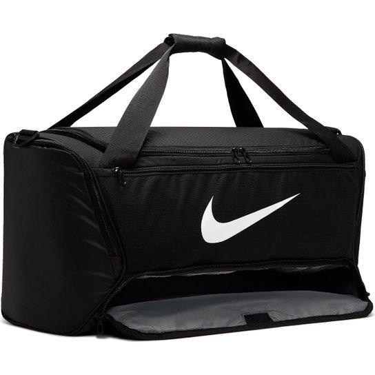 Mala Nike Brasilia M Duff 9.0 - 60 Litros - Preto+Branco