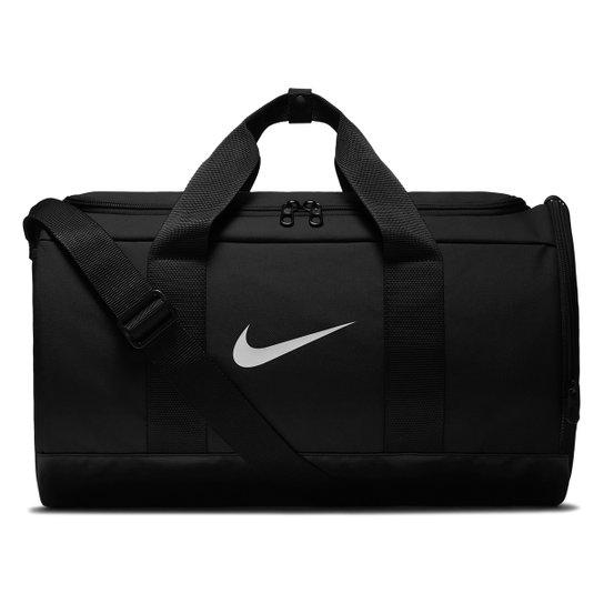 Mala Nike Team Duff - 27 Litros - Preto+Branco