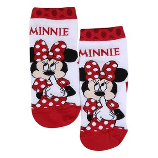 Meia Infantil Lupo Disney Minnie Cano Médio Feminina