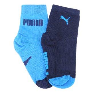 Meia infantil Puma Baby Cano Longo Kit Com 2 pares