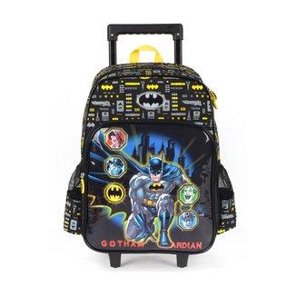 """Mochila Escolar Luxcel Batman 16"""" c/ Carrinho"""