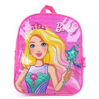 """Mochila Luxcel Petit Up4You Barbie 11"""" Feminina"""