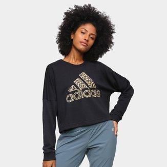 Moletom Adidas Leopardo Feminino
