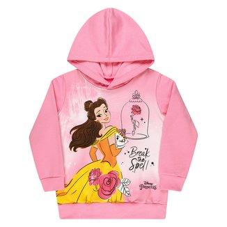 Moletom Bebê Disney Peluciado Com Capuz A Bela e a Fera Feminino