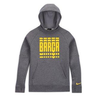 Moletom Juvenil Barcelona Nike GFA Canguru