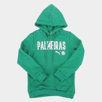 Moletom Juvenil Palmeiras Puma Wording Canguru