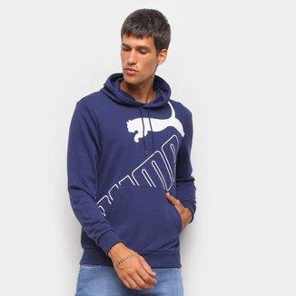Moletom Puma Big Logo Hoodie TR Canguru Masculino