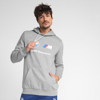 Moletom Puma BMW MMS Essentials Fleece Canguru Masculino