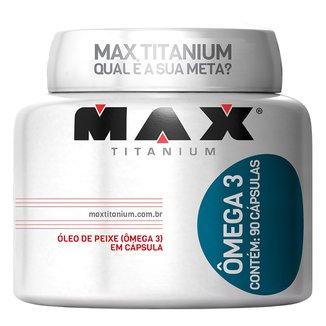 Ômega 3 1000 Mg 90 Cáps - Max Titanium