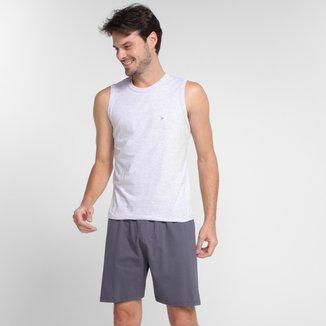 Pijama Adulto Malwee Regata Bicolor Curto Masculino