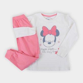 Pijama Bebê Evanilda Disney Minnie Longo Feminino