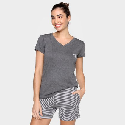 Pijama Calvin Klein Shortdoll One Listas Premium Feminino