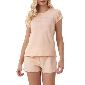 Pijama Cor Com Amor Curto Poá Feminino