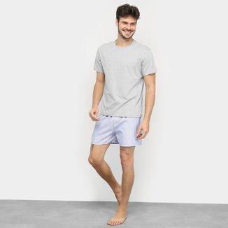 Pijama Curto Duomo Camiseta + Samba Canção