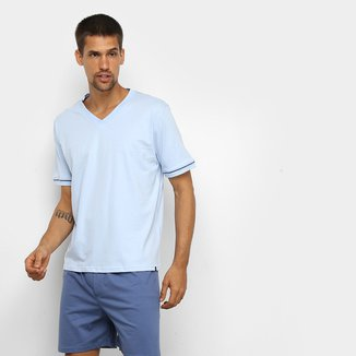 Pijama Curto Lupo Malha Básico Masculino