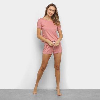 Pijama Curto Lupo Short Doll Viscose Feminino