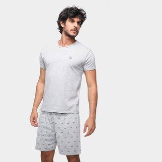 Pijama Curto Malwee Básico Masculino