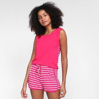 Pijama Curto Volare Listrado Feminino