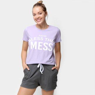 Pijama Curto Volare Mess Feminino
