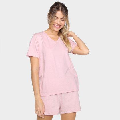 Pijama Hering Básico Curto Feminino