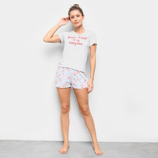 Pijama Hering Curto Estampado Feminino