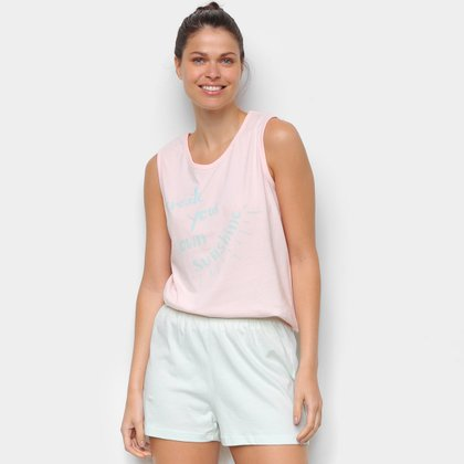 Pijama Hering Curto Regata Sunshine Feminino