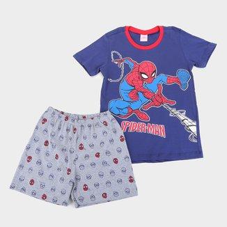 Pijama Infantil Curto Evanilda Marvel Homem-Aranha Masculino