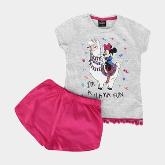 Pijama Infantil Disney Evanilda Minnie Feminino