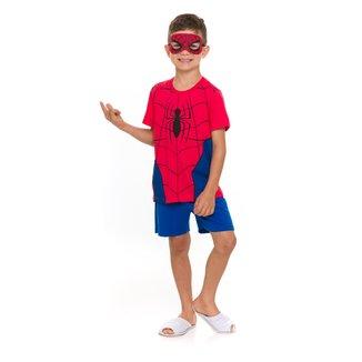 Pijama Infantil Evanilda Homem-Aranha C/ Máscara Masculino
