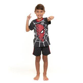 Pijama Infantil Evanilda Homem-Aranha Masculino