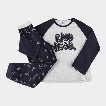 Pijama Infantil Hering Kids Longo Kind Mood Masculino