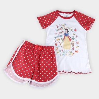 Pijama Infantil Lupo Disney Branca de Neve Feminino