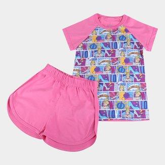 Pijama Infantil Lupo Disney Cinderela Feminino