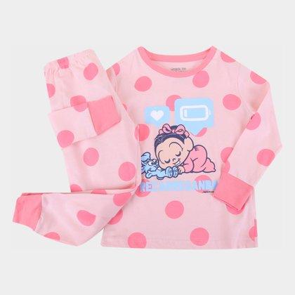 Pijama Longo Bebê Evanilda Turma da Mônica Feminino