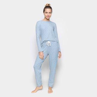Pijama Longo Feminino Cor com Amor Poás Feminino