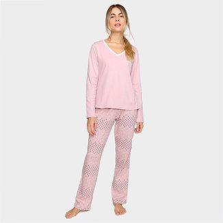 Pijama Longo Hering Básico Feminino